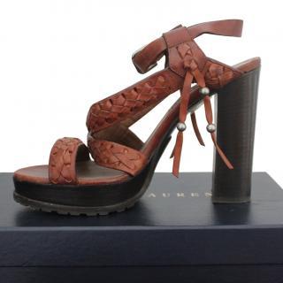 Ralph Lauren collection tan sandals