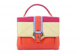 Paula Cademartori orange petit faye top handle bag