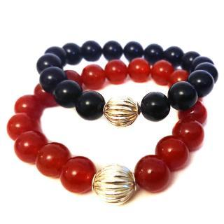 Ilias Lalaounis silver bead bracelets