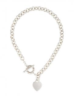 Tiffany & Co Sterling Silver Heart Tag Necklace