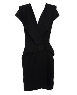 RM Roland Mouret Black Pandora Wrap Dress