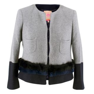 Vilagallo Cropped Wool Jacket
