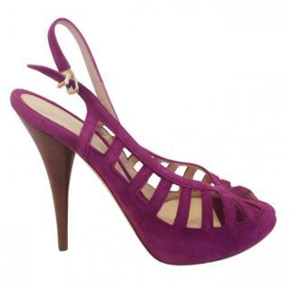 Fendi purple suede sandals