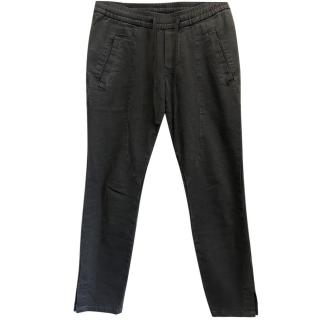 James Perse Grey Drawstring Trousers