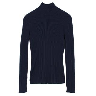Sportmax Navy Ribbed Jumper