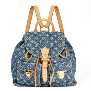 Louis Vuitton Blue Monogram Denim Backpack PM