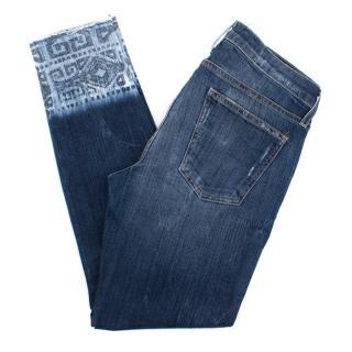 Current Elliott Aztec Trim Jeans