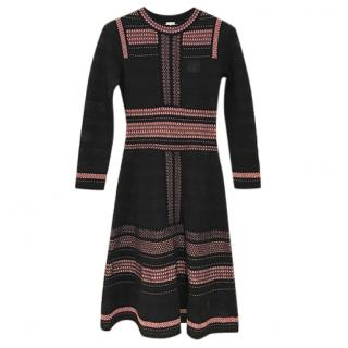 M Missoni Black and Pink knitted dress