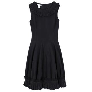 Oscar De La Renta Black Skater Dress