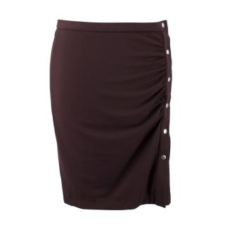 Wolford Brown Jersey De Luxe Buttoned Skirt