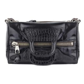 Proenza Schouler Black Mirror Duffle Shoulder Bag