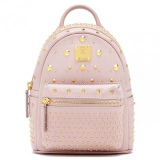 MCM baby pink small backpack