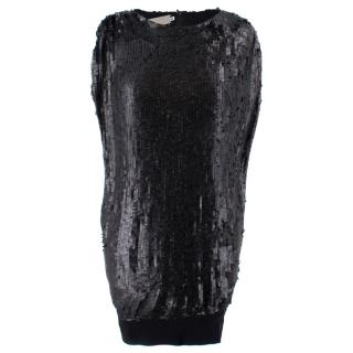 Preen By Thornton Bregazzi Black Sequin Top