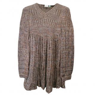 Chloe silk metallic jumper