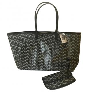 Goyard St Louis Cevron Coated Canvas Tote
