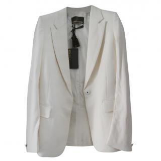 Roberto Cavalli cream blazer jacket