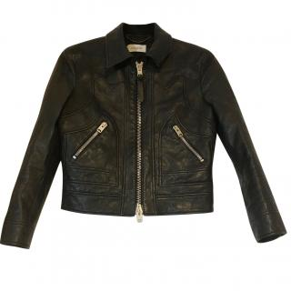 Coach Calf Skin Leather Jacket