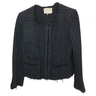 IRO Asella Black Jacket With Silver Thread
