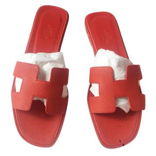 Hermes Coral Oran Sandals