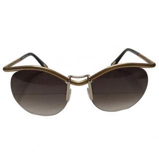 Lanvin Coiled Rimless Sunglasses
