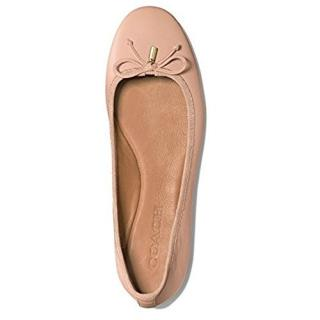 COACH Nude Leather Flats