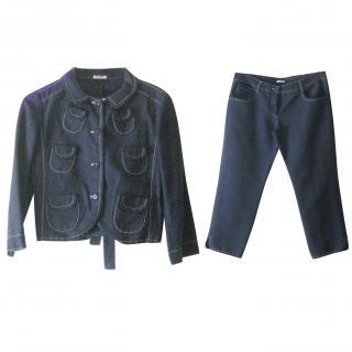 Miu Miu Cropped Navy Suit