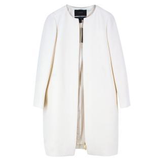 J.Crew Wool Double-Cloth Collarless Coat