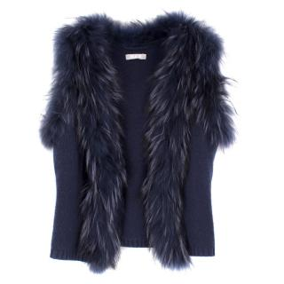 Max by Lederer Cashmere, Wool & Racoon Fur Gilet