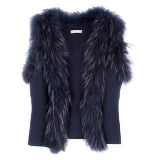Max by Lederer Cashmere, Wool & Racoon Fur Gilet