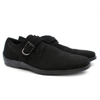 Tod's Suede Monk-Strap Shoes