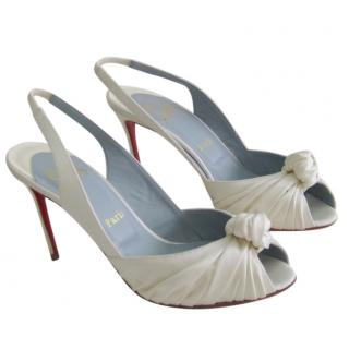 Christian Louboutin Jenny 85 satin heels