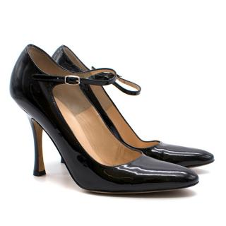 Manolo Blahnik Patent Mary-Jane Pumps