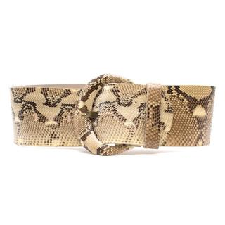 Alexander Mcqueen Python Leather Wide Belt
