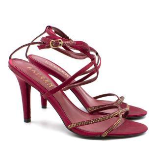 Lauren Ralph Lauren Satin Heeled Sandals