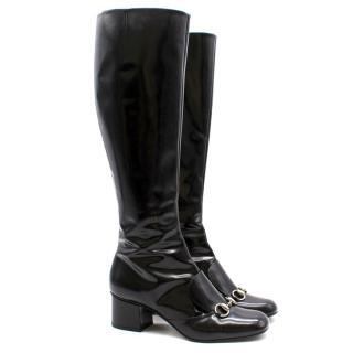Gucci Horsebit Knee High Boots