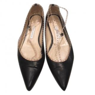 Bionda Castana Studded Perspex Ballet Flats