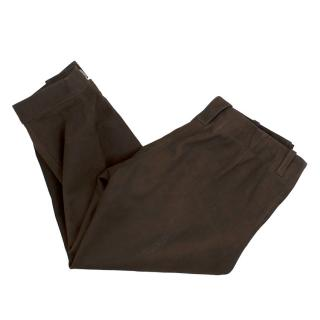 Ray Ward Gunsmith Suede Trousers