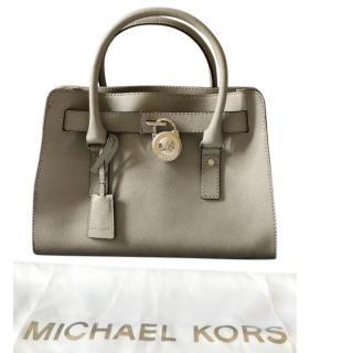Michael Kors pearl grey hamilton tote bag
