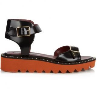 Stella McCartney Black Odette Sandals - UK 5 / 38