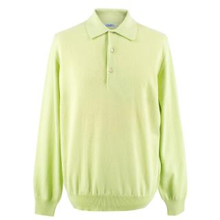 Malo Cashmere Long Sleeve Polo Top