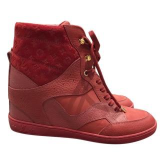 Louis Vuitton red high tops