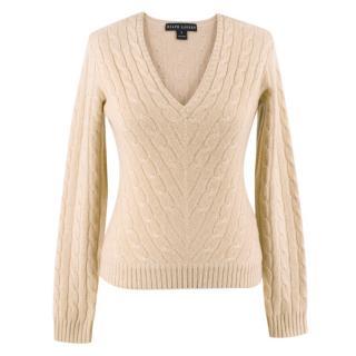 Ralph Lauren Cashmere Cable Knit Sweater