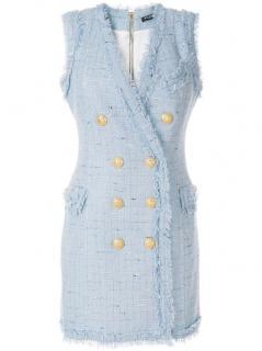 Balmain current season tweed mini dress