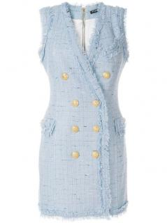 Balmain current season tweed mini dress