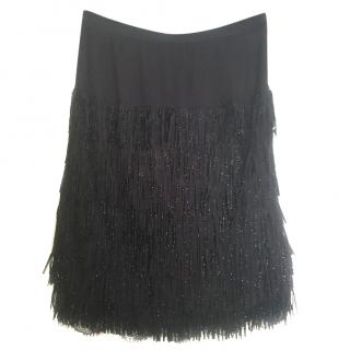 Twin-set by Simona Barbieri Beaded Fringed Skirt