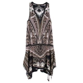 Roberto Cavalli Silk Drop Waist Dress