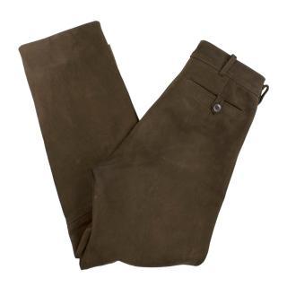 Bespoke Brown Suede Hunting Pants