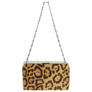 Valentino animal print Pony Hair Shoulder Bag