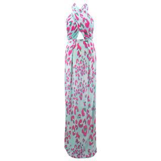 Matthew Williamson Escape Leopard Printed Maxi Dress