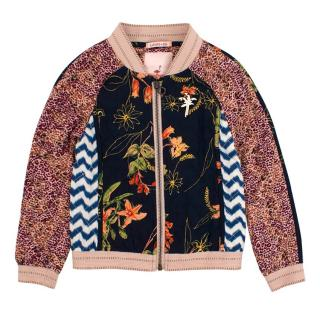 Scotch R'Belle Girl's Floral Bomber Jacket
